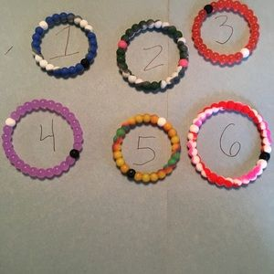 Jewelry - BEADED SILICONE,BRACELET WITH OR WITHOUT CHARM